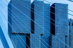 Skyskrapor i staden av Rotterdam royaltyfri fotografi