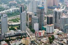 Skyskrapor - i stadens centrum Kuala Lumpur Fotografering för Bildbyråer