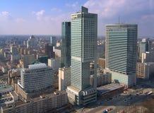 Skyskrapor i Warsaw royaltyfri bild