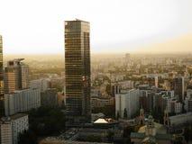 Skyskrapor i Warszawa, Polen arkivfoto