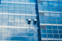 Skyskrapor med den glass fasaden Arkivfoto