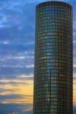 Skyskrapor, moln och solnedgång Royaltyfria Foton