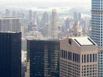Skyskrapor och kontorsbyggnader i Manhattan Arkivbilder
