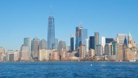 Skyskrapor och torn i NYC Arkivfoto