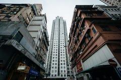 Skyskrapor på Aberdeen, i Hong Kong, Hong Kong Fotografering för Bildbyråer