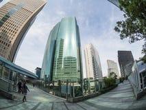 Skyskrapor på det Shiodome området Tokyo royaltyfria bilder