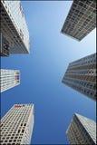 Skyskrapor på område för SOHO Jianwai, Peking, Kina Arkivfoto