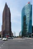 Skyskrapor på Potsdamer Platz Royaltyfria Bilder