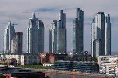Skyskrapor Puerto Madero, Buenos Aires Arkivfoto