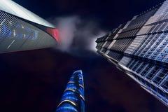 Skyskrapor Shanghai, Kina Arkivbilder