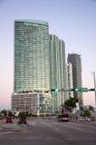 Skyskrapor som är i stadens centrum i Miami Arkivfoton