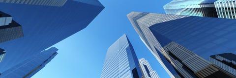 Skyskrapor stadslandskap Arkivfoton
