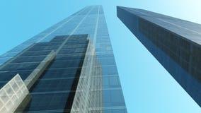 Skyskrapor stadslandskap Arkivbild