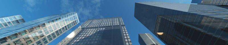 Skyskrapor stadslandskap Royaltyfri Fotografi