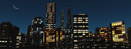 Skyskrapor stadslandskap Royaltyfria Foton