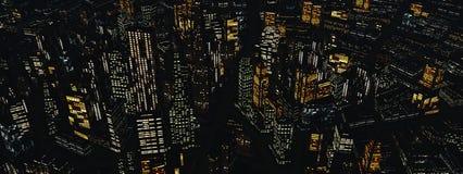 Skyskrapor stadslandskap Royaltyfria Bilder