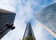 skyskrapor tre Arkivbilder