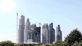Skyskrapor under konstruktion i Buenos Aires arkivfilmer