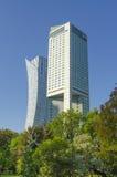 skyskrapor warsaw Arkivfoto