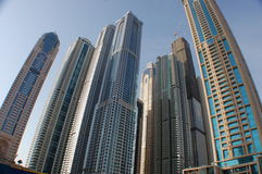 Skyskraporna i Dubai Fotografering för Bildbyråer