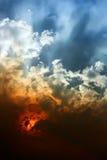 skysolnedgång Royaltyfri Fotografi