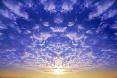 skysolnedgång Arkivfoton