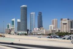 Skysrapers śródmieście w Kuwejt Zdjęcia Royalty Free