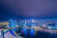 Skysrapers i Singapore Arkivbild