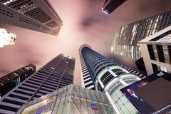 Skysrapers in Singapore Royalty Free Stock Photos