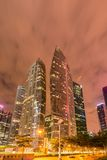 Skysrapers in Singapore during Stock Photo
