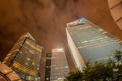 Skysrapers in Singapore Stock Photography