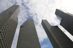 Skysrcapers de Singapura Fotos de Stock Royalty Free