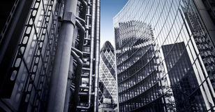 Skysrcapers famosos, Londres Imagens de Stock