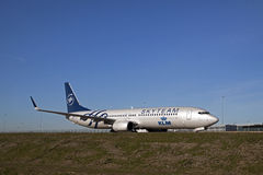 Skyteam boeing 737 Royalty Free Stock Images