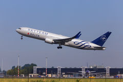 Skyteam jet take-off Royalty Free Stock Images