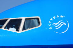 Skyteam logo detail Royalty Free Stock Image
