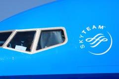 Skyteam-Logodetail lizenzfreies stockbild