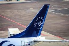 Skyteam straalstaart Royalty-vrije Stock Afbeelding