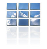 skyteknologi arkivbild