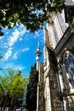 Skytower Auckland Nowa Zelandia Fotografia Royalty Free