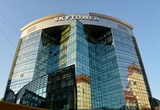 SKYTOWER Business Centre, Chisinau, Moldova stock image