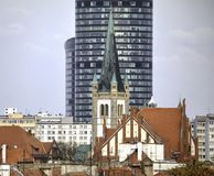 Skytower- highest building in Wroclaw, Poland Stock Photo