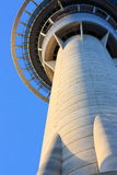 Skytower Towering, Auckland, New Zealand. A close-up of the Skytower in Auckland, New Zealand Stock Photo