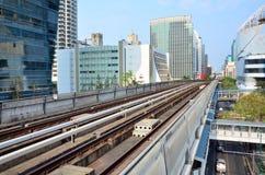 Skytrain铁路在曼谷泰国 免版税库存照片