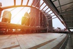 Skytrain驻地Chong Nonsi,曼谷,泰国 免版税图库摄影