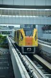Skytrain à l'aéroport de Singapour Changi, Singapour Image libre de droits