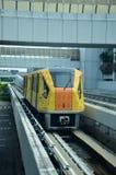 Skytrain à l'aéroport de Singapour Changi, Singapour Photos libres de droits