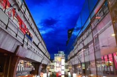 skytrain Сиама парагона Стоковые Изображения