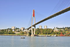 Skytrain bridge. Linking Surrey and New Westminster cities in BC Stock Photography