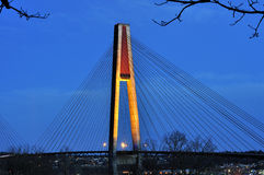 Skytrain Bridge at twilight Stock Photography